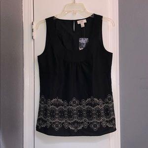 LOFT black and cream shirt